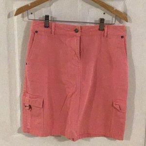 Christopher & Banks Ladies Sz 4 Pink Denim Skirt
